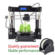New Reprap Prusa i3 3D printer with High Quality DIY 3d Printer kit prusa i3 LCD with 1roll Polychromatic PLA consumables+16gSD