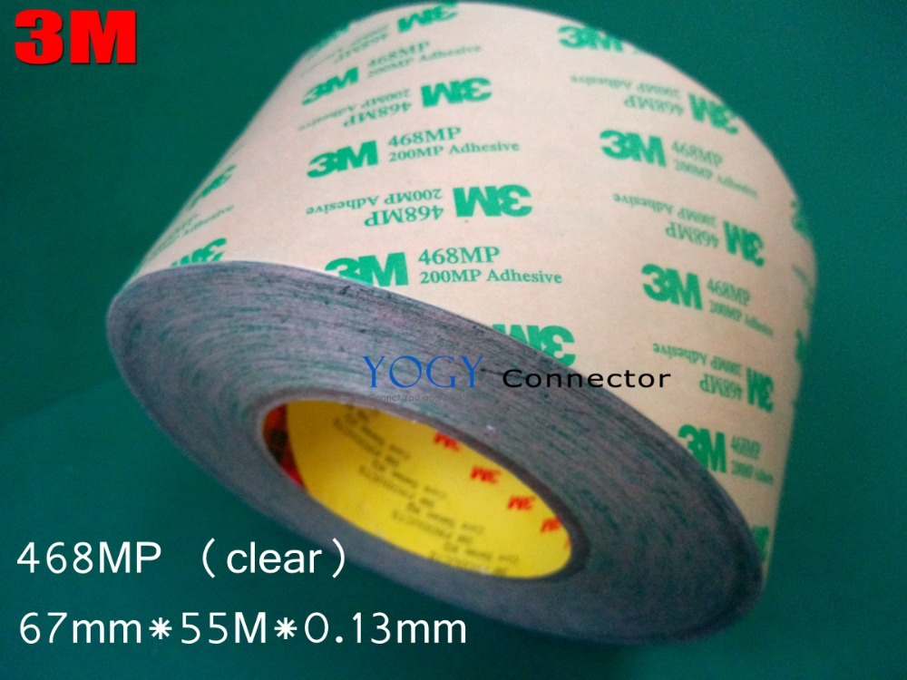 1x 67mm Double Sided Adhesive Tape 3M 468MP 200MP, Metals, Paints, Wood, Bonding Together(China (Mainland))