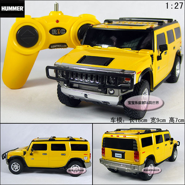 RC Yellow humvees h2 Suv remote control car models educational toys free air mail