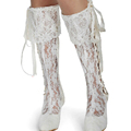 Elegant 2 Inches Middle Heel Prom Evening Party Dress Boots Pointed Toe White Bridal Wedding Boots