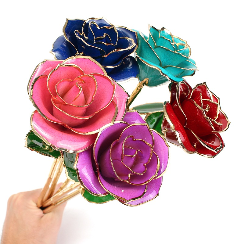 Aliexpress Com Buy Wr Romantic Rose 24k Gold Dipped: Online Buy Wholesale Glass Rose From China Glass Rose