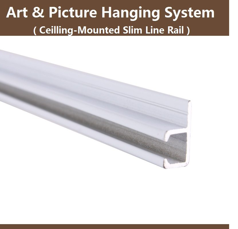 Art and picture hanging system parts,Slim rail track,ceiling mounted,Art hanger hook,display hardware,Free shipping,10pcs(China (Mainland))