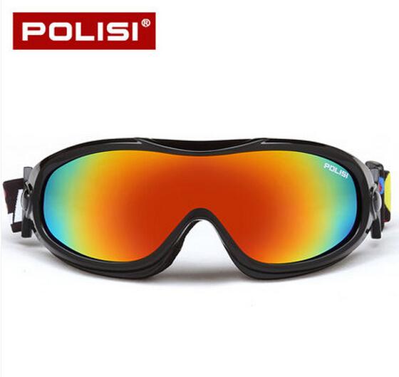 Polisi Children Kids Winter Skiing Eyewear Snowboard Snowmobile Skate Googles Anti-fog Uv400 Ski Snow Esqui Protective Glasses(China (Mainland))