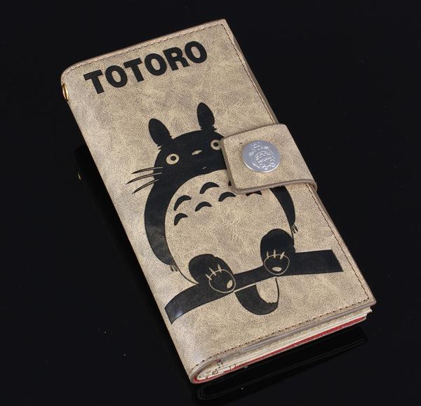 New Women Men Zipper & Hasp Rectangular Long Purse Fresh And Cartoon My Neighbor Totoro Wallet Purse Card Bag(China (Mainland))