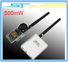 2014 low shipping FPV 5.8G 500mW AV A/V Transmitting/ 8 Channels receiver radio System TS352+RC305 TX&RX