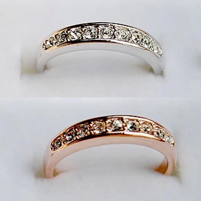 2014 vintage simple style silver gold rhinestone