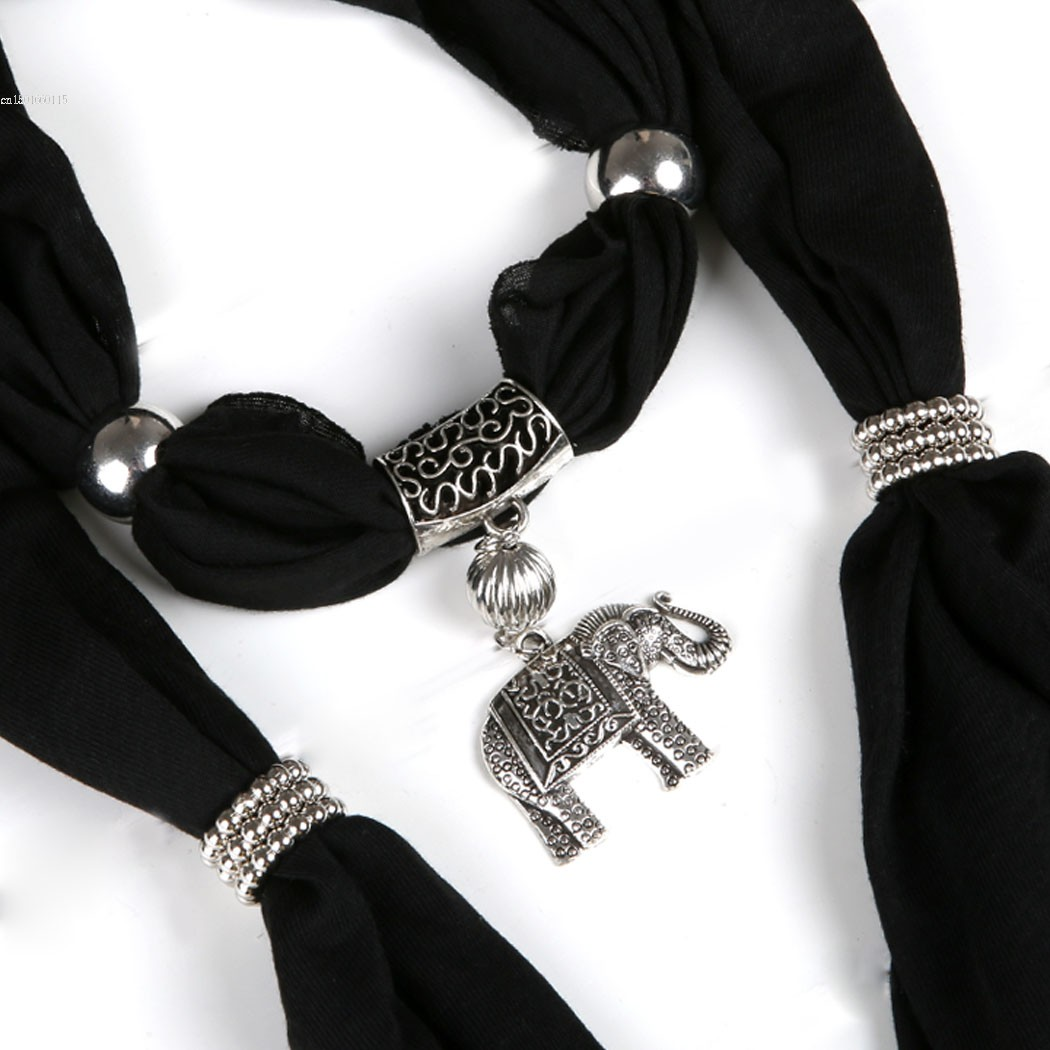 Big Sale!2014 New women Lady Autumn/Winter Alloy Elephant Pendant Scarf Charm Ring Jewelry Necklace Scarves 8 Colors 29