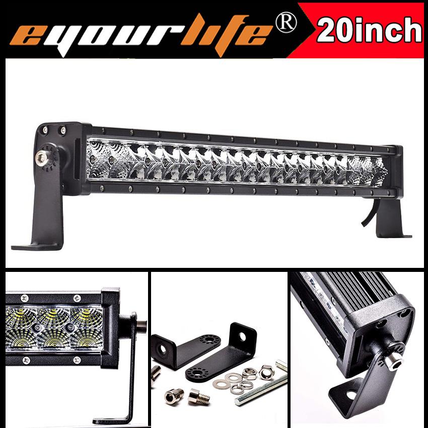 Eyourlife 20 22 inch 105w 12v led bar 24v offroad work light bar for atv off