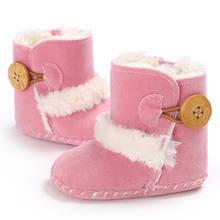 תינוקת ילד שלג מגפי חורף חצי מגפי תינוק ילדים חדש רך תחתון נעלי(China)