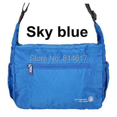 2014 New arrive man and woman's waterproof outdoor sports use folding bag lovers weekends travel use messenger bag cheap online(China (Mainland))