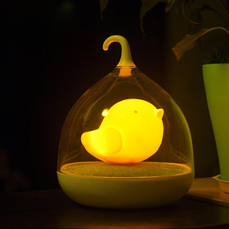 Lovely portable bird led night lamp dream lights for kids in night lights from lights lighting - Birdhouse nightlight ...