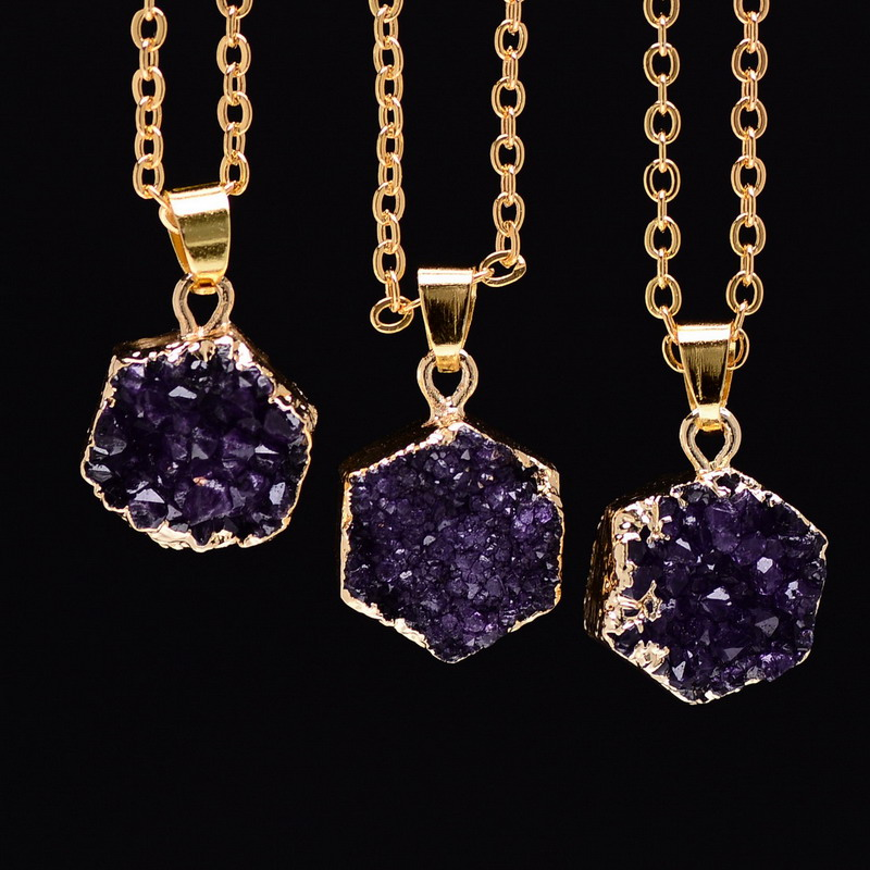 amethyst stone necklace - photo #39