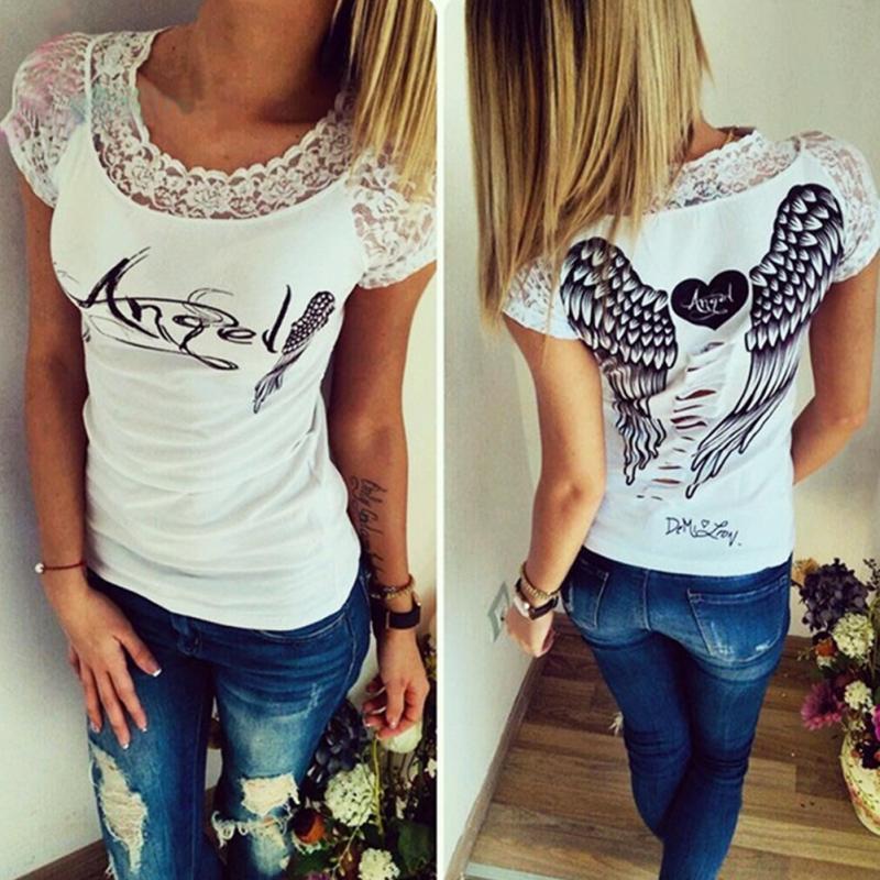 UK Fashion Womens Short Sleeve Tops Summer Beach Ladies Loose Blouse T Shirts