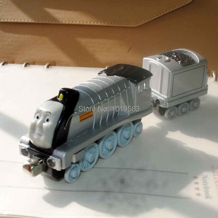 (20pcs/pack) Wholesale Brand New Thomas Train Toys The Tank Engine SPENCER And Tender Car Diecast Metal Magnetic Train Model Toy(China (Mainland))