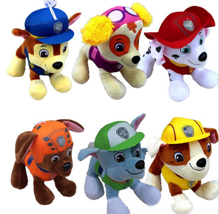 20 СМ Собак Патрульной Собаки Игрушки Русский Аниме Фигуры Куклы Действий Патрульный Автомобиль Щенок Игрушка Patrulla