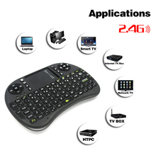 Russian/Spanish/English Keyboard mini Air Mouse Remote Control with CE Touchpad Handheld Keyboard for TV BOX Laptop Tablet(China (Mainland))