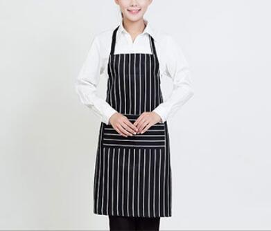 Freeshipping Stripe Bib Apron Chef Waiter Kitchen Cook New Tool(China (Mainland))