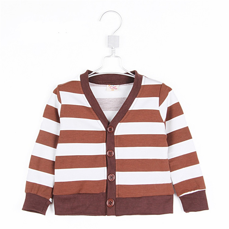 2015 spring and autumn child casual style clothing brief stripe boys outerwear baby kid long-sleeve cardigan A1060(China (Mainland))
