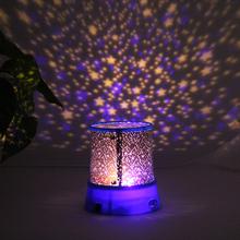 Fashion Romantic LED Starry Night Sky Projector Lamp Kids Gift Star light Cosmos Lighting (China (Mainland))