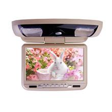 XST 9 pulgadas de montaje en el techo del coche Monitor abatible LED Digital reproductor de DVD pantalla IR/transmisor FM/USB/SD/MP5 soporte juego de 32 Bits(China)