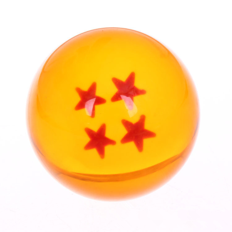 1PC Big 4.5CM Dragon Ball Anime Figure 1-7 Star Dragon Ball Crystal Balls PVC Action Figure Toy Esferas Del Dragon Free Shipping(China (Mainland))
