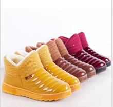 2016 winter short new waterproof cotton boots thick bottom plus velvet non-slip warm women's snow boots(China (Mainland))