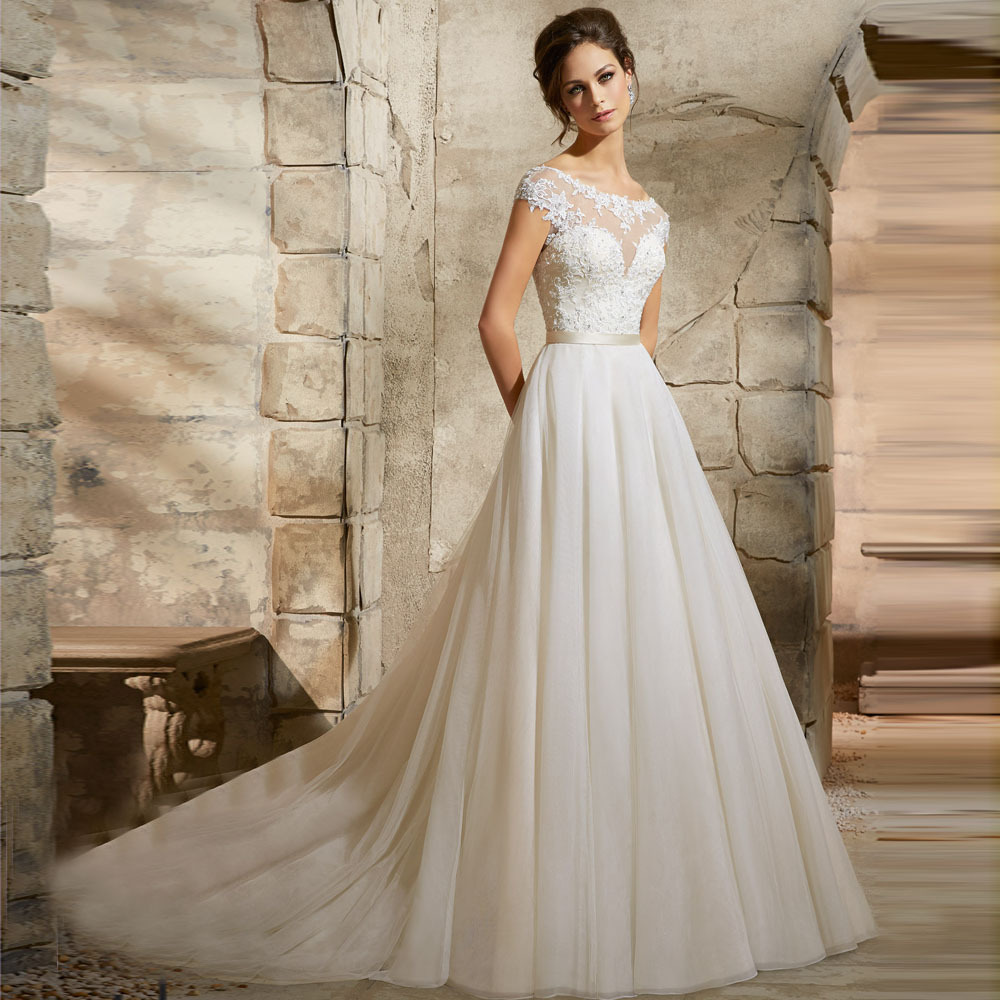 Buy good quality appliqued lace tulle for Where to buy a nice dress for a wedding