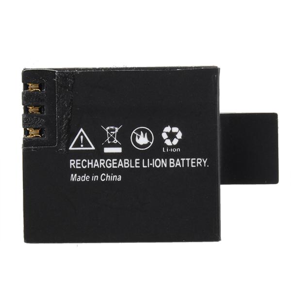 New 3 7V 900mAh Li ion for All SJcam SJ4000 SJ500 SJ5000 plusM10 Backup Rechargable Battery