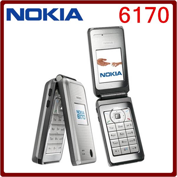 6170 Original Nokia 6170 Flip 2G GSM Double Screen Unlocked Cheap Refurbished Celluar Phone Free Shipping(China (Mainland))
