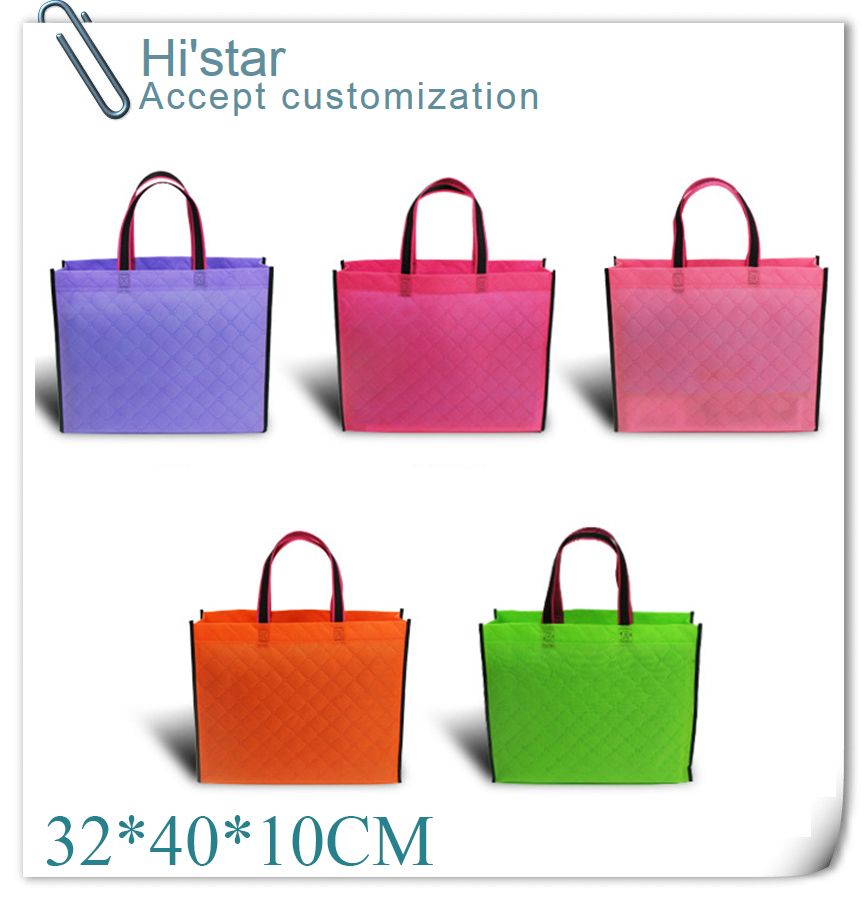 32*40*10CM 20pcs promotion new arrival eco non-woven fabric shopping bag accept custom logo print(China (Mainland))