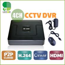 4 Channel CCTV Digital Video Recorder H.264 CCTV DVR Recorder P2P Cloud 4ch Full D1 Up to HD 1920*1080 CCTV DVR Recorder(China (Mainland))