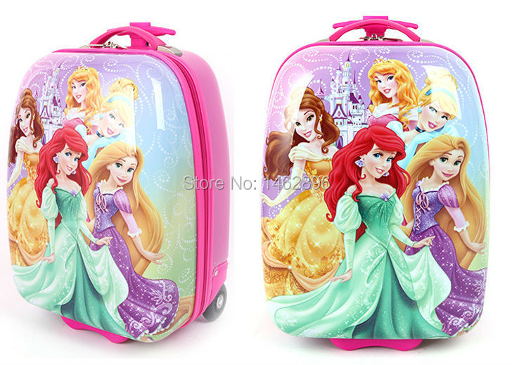 2015 snow white princess 16 inch Luggage/Children cartoon trolley case/Travel Luggage Bags/Waterproof student package(China (Mainland))