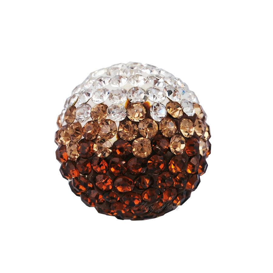 5 pcs/ lot chime Ball 16mm Harmony Bola ball Angel Sounds brown zircon Musical Ball Chime(China (Mainland))