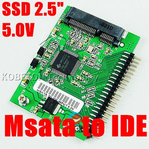 10pcs Mini Sata PCI-e msata SSD 1.8 to IDE 2.5 inch 5V 44 Adapter Card PCI express HDD Hard Disk Converter for Laptop Notebook(China (Mainland))