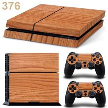 Light Wooden For PS4 Sticker Vinly Skin For Sony PlayStation 4 And 2 Controller Cover Decal(China (Mainland))