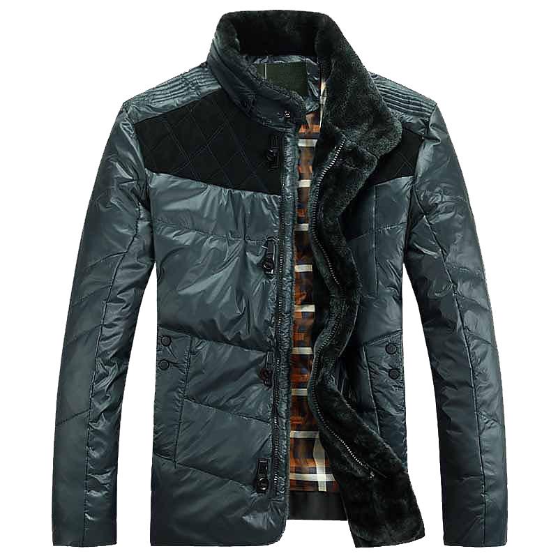 Winter Men's Duck down jacket Fur OverCoat Male Fashion Warm OutdoorWear Big Size Snow Jackets Thicken Clothing Man stand Collar