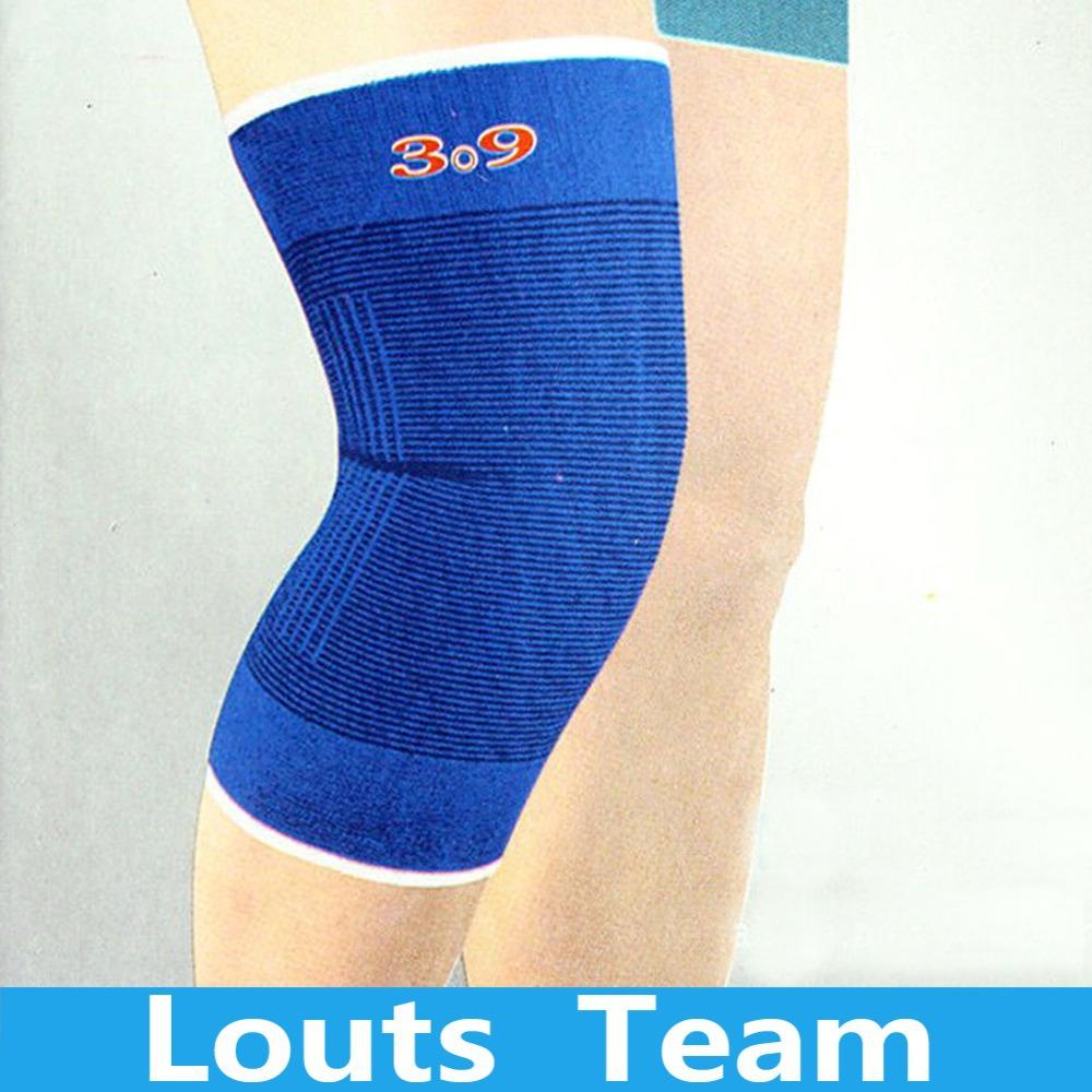 High Quality 1 Pair Blue Knee Sleeve Support Band Brace Bandage Athlete Sports Protection(China (Mainland))