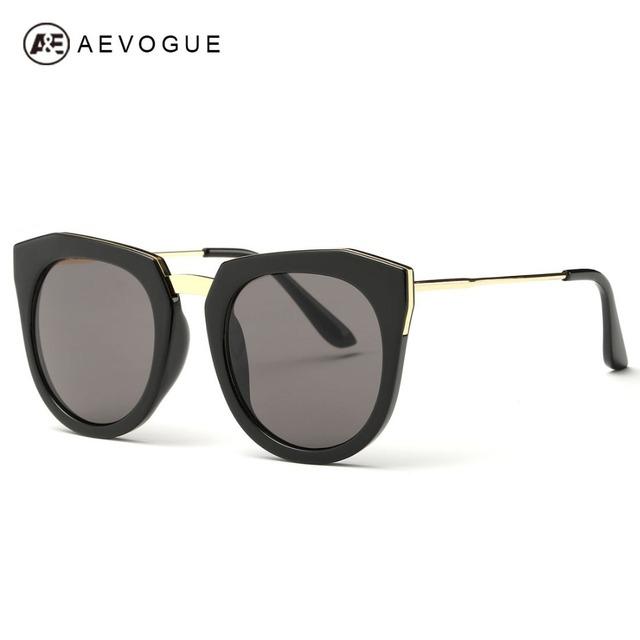 Aevogue очки женщины овальное зеркало европейский стиль солнцезащитные очки личность металлический каркас бренд дизайн UV400 AE0346