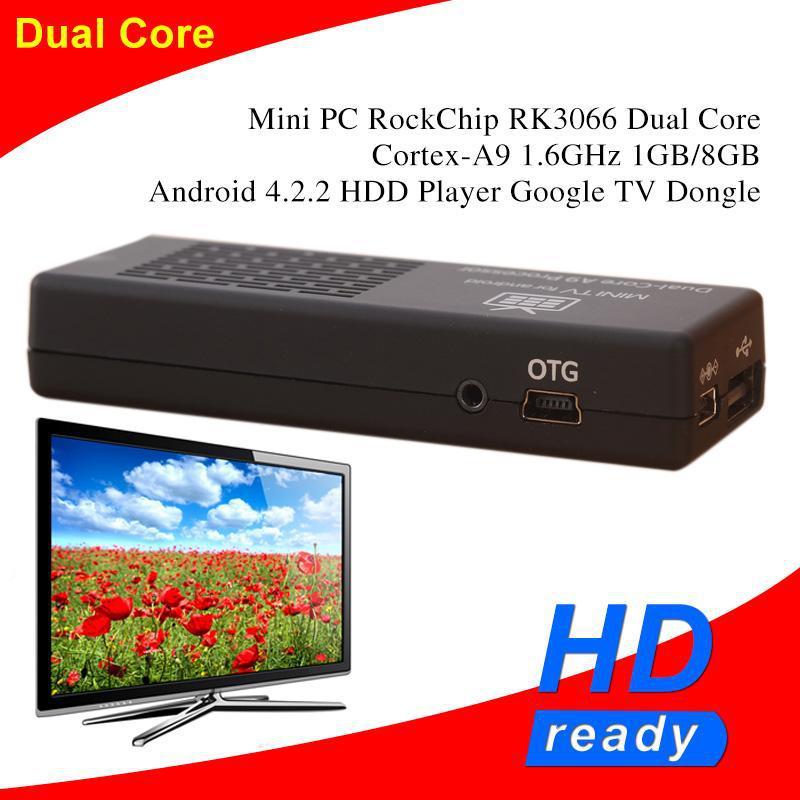 MK808 Bluetooth Media Player Mini PC RockChip RK3066 Dual Core Cortex-A9 1.6GHz 1GB 8GB Android 4.2.2 Google hdd TV Dongle Stick(China (Mainland))