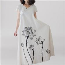 Женская Одежда Белый Лотос