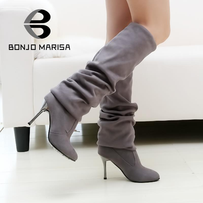 Big Size 34-43 Womens High Heel Boots Over the Knee High Boots for Sexy Lady Fashion Shoes Knight Boots XB345 Free Shipping<br><br>Aliexpress
