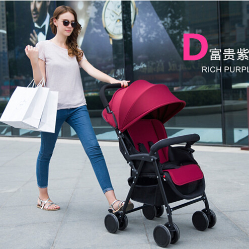 Baby Trolley With Seat Cushion Comfortable Infant Carriage For 0-36 Months Children Stroller 4 Colors Optional Lightweight Prams<br><br>Aliexpress