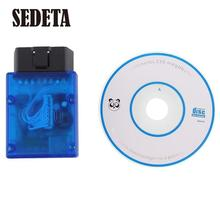 SEDETA Hot Car Mini USB Bluetooth OBD 2 Auto Diagnostic Code Reader Scanner Tool Blue For iPhone Samsung PC Android Portable(China (Mainland))