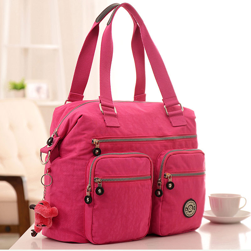 new Fashion Women Handbag High Quality ZIpper Solid Waterproof Nylon Bag casual clutch tote Bolsas femininas monkey(China (Mainland))