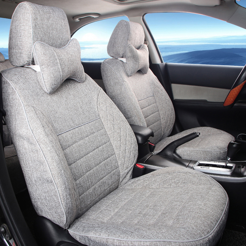 Sports seat covers fit for chevrolet captiva cover seats protector black/beige custom linen cloth car seat cover&supports set(China (Mainland))