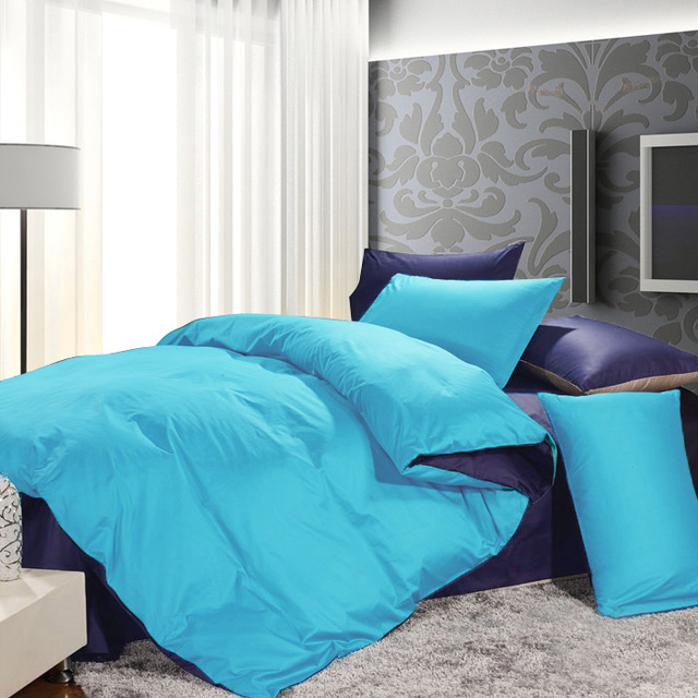 Spring and summer fashion solid color single 100% big cotton duvet cover 100% cotton single double quilt