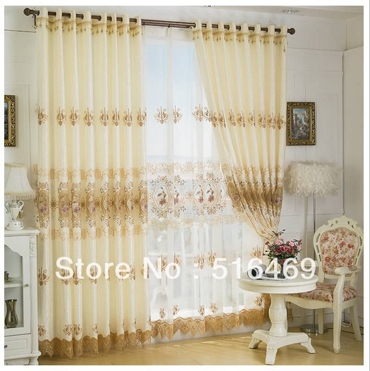 1M*2.7M/PCS European-style luxury curtains,high quality bedroom curtain finished product embroidered curtains finished fabrics