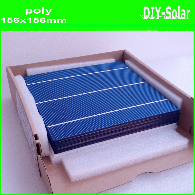 buy 4.1-4.2W 156mm  poly solar cells 6x6+enough Tabbing Wire and Busbar Wire+1pc flux pen for making high-quality solar panels<br>