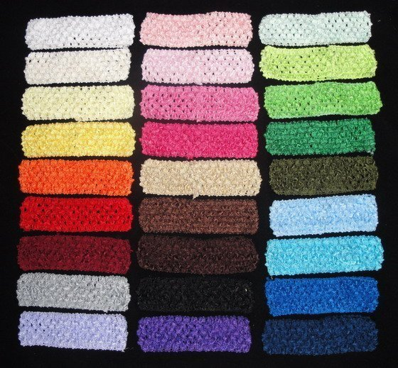 26pcs/lot Crochet headband waffle headband for baby 1.5 inch Free shipping