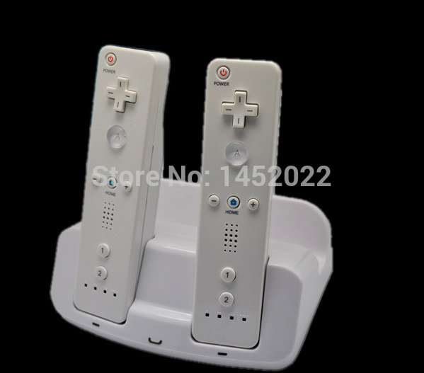 New Charging Dual Charge Dock Station for Nintendo Wii U Gamepad and Remote Consumer Electronics white